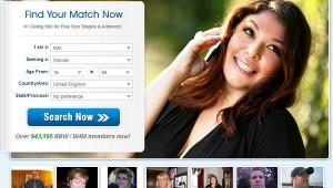 Largefriends.com homepage