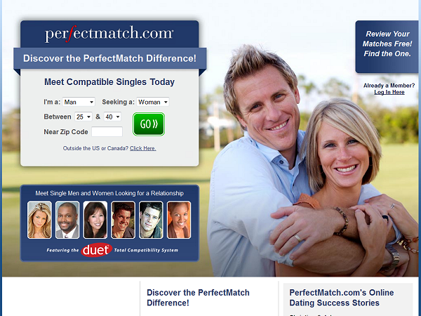 Perfect match dating website