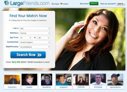 Largefriends.com homepage